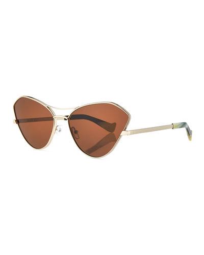 Fluxus Cat-Eye Monochromatic Sunglasses