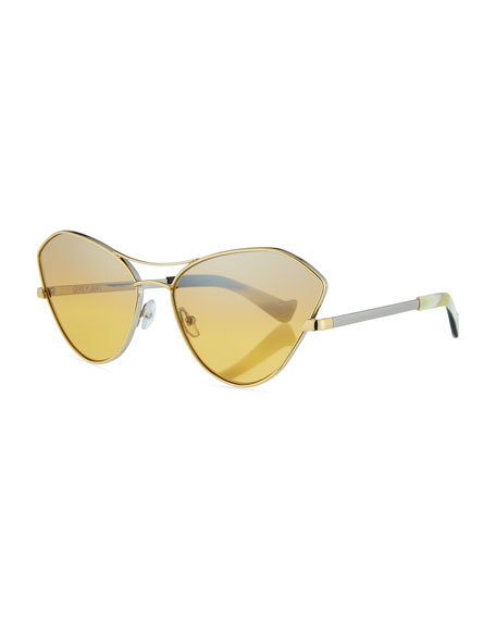 Fluxus Cat-Eye Mirrored Sunglasses