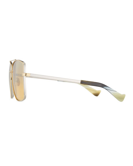 Dempsey Mirrored Square Sunglasses, Silver