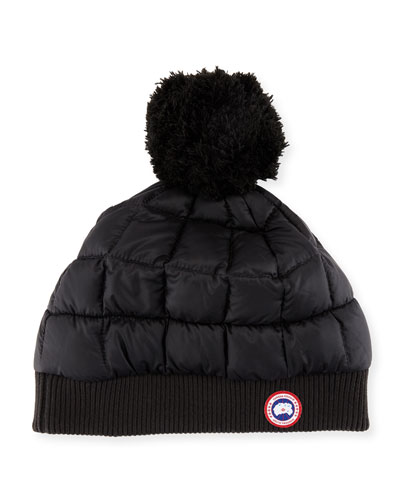 Down-Fill Pompom Toque