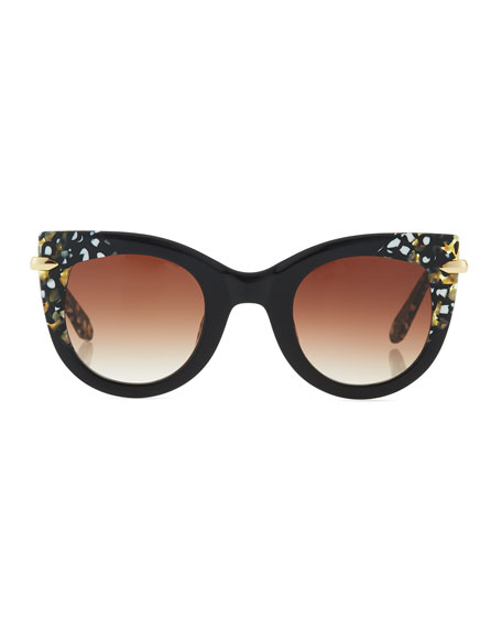 Laveau Cat-Eye Sunglasses, Black