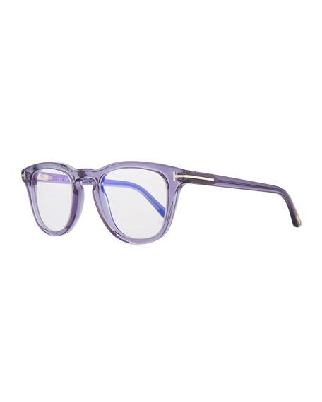 Semitransparent Acetate Square Sunglasses