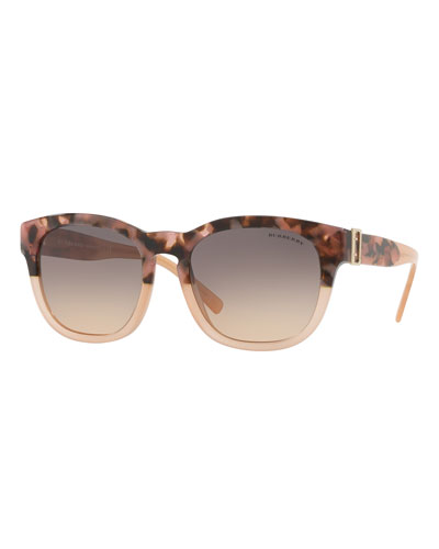 Two-Tone Square Gradient Sunglasses