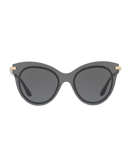 Mixed-Media Cat-Eye Sunglasses