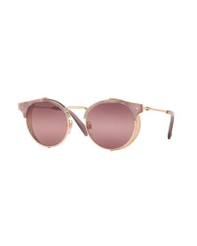 Round Metal Mesh Sunglasses