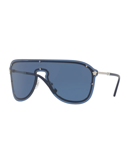 Greek Key Shield Sunglasses