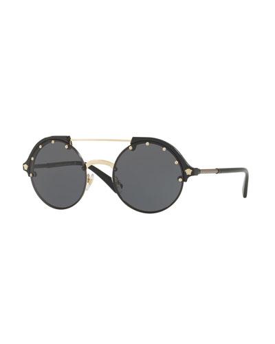Round Studded Sunglasses