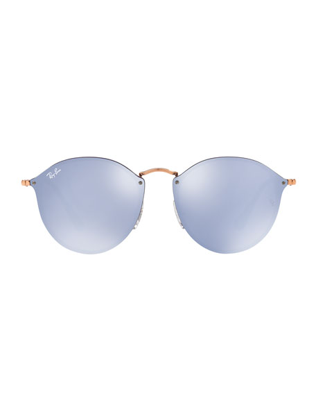 Mirrored Rimless Sunglasses