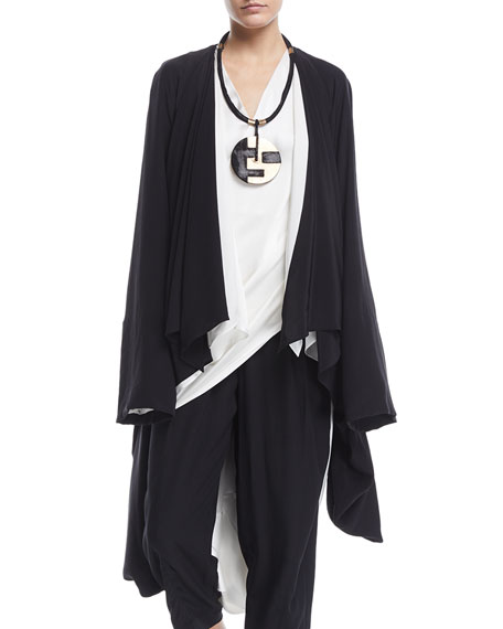 Urban Zen  WASHED SILK DRAPED COCOON CARDIGAN