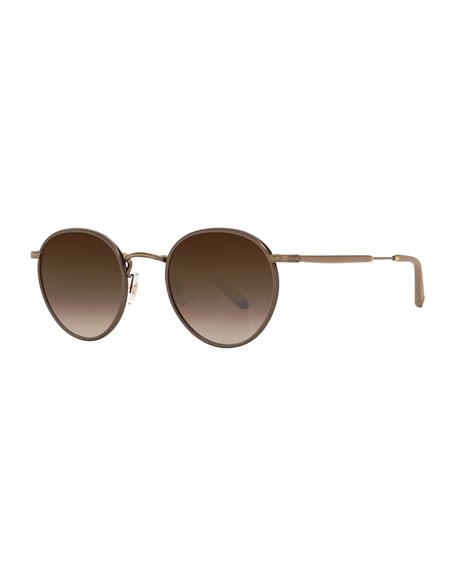 Wilson Round Gradient Filigree Sunglasses