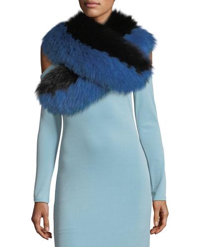 Oversized Fox-Fur Collar