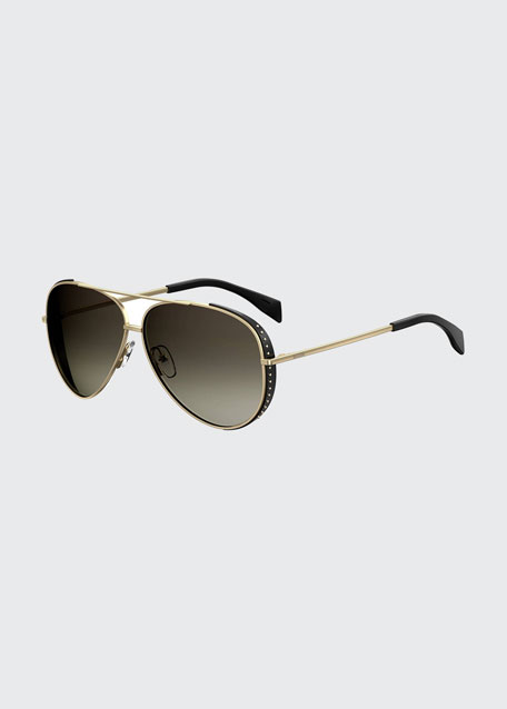 Studded Metal Aviator Optical Frames