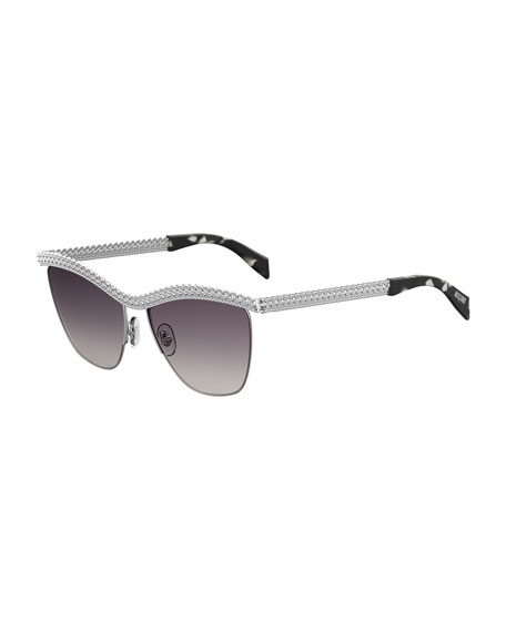 Curb-Chain Gradient Sunglasses