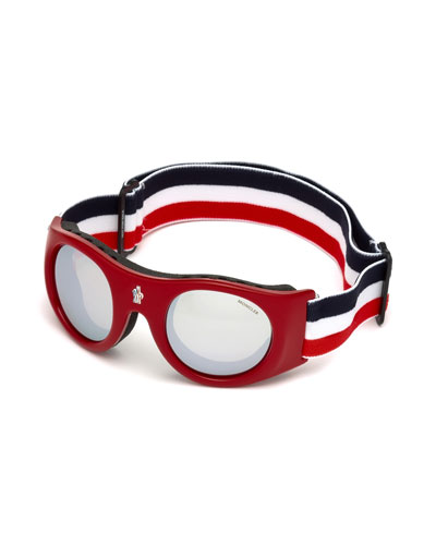 Round Sunglasses w/ Wide Elastic Band, Red