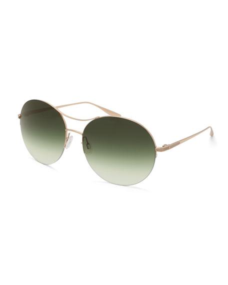 Mahina Round Gradient Sunglasses, Gold/Julep