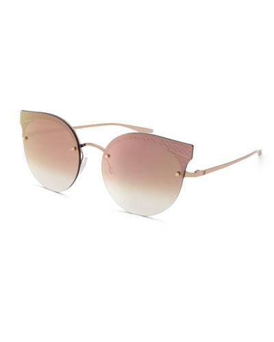Sol Mate Cat-Eye Mirrored Sunglasses, Pink