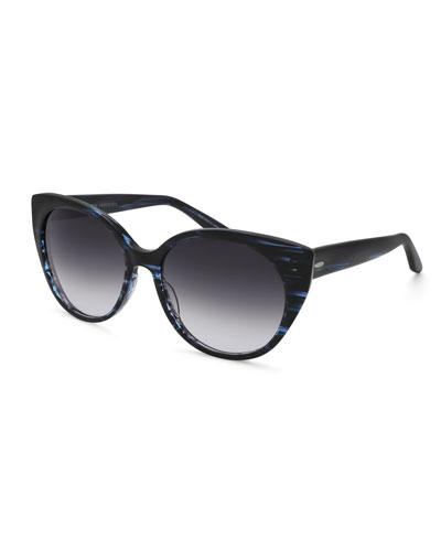 Kuuipo Butterfly Gradient Sunglasses, Midnight