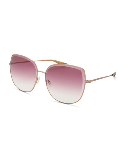 Espirutu Gradient Butterfly Sunglasses, Rose Gold
