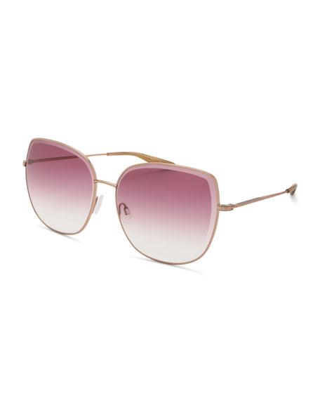 Barton Perreira Espirutu Gradient Butterfly Sunglasses, Rose Gold