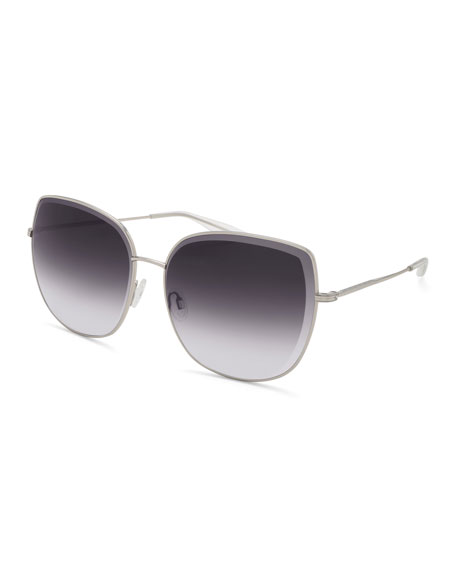 Barton Perreira Espirutu Gradient Butterfly Sunglasses, Silver