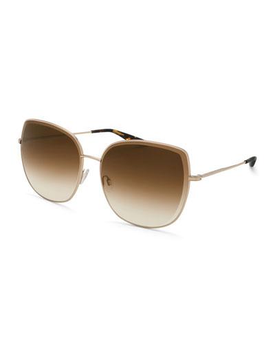 Espirutu Gradient Butterfly Sunglasses, Gold
