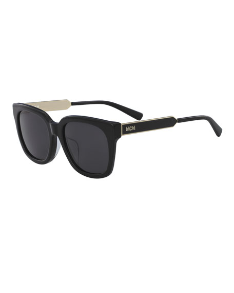 MCM Square Metal & Acetate Sunglasses