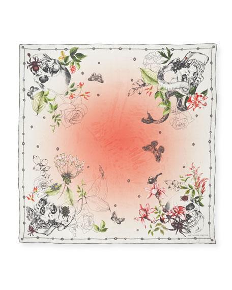 Wild Botanical Silk Shawl