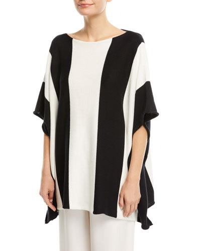 Sideways Knit Colorblock Sweater