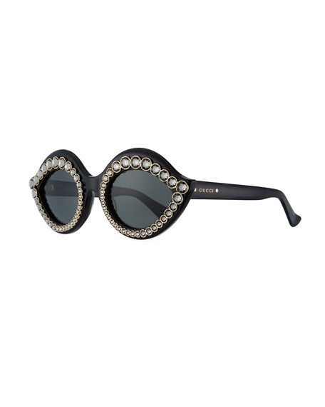 Swarovski® Crystal Monochromatic Cat-Eye Sunglasses