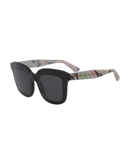 Square Sunglasses w/ Paisley Arms
