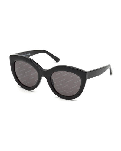 Logomania Shiny Acetate Cat-Eye Sunglasses