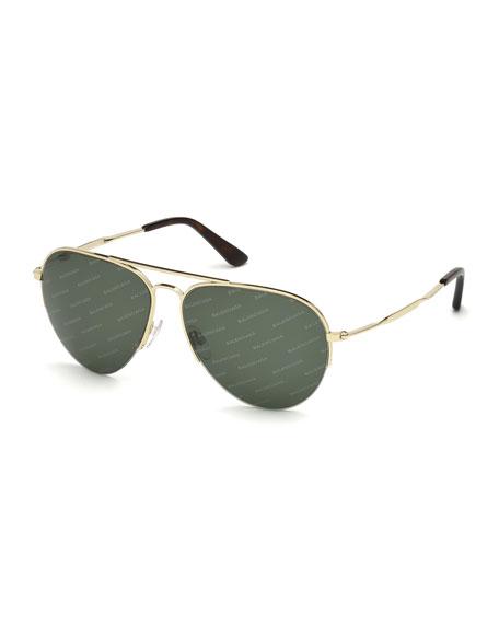 Balenciaga Logomania Aviator Sunglasses
