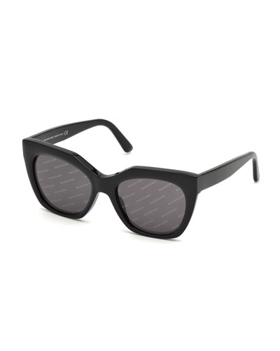 Logomania Square Acetate Sunglasses