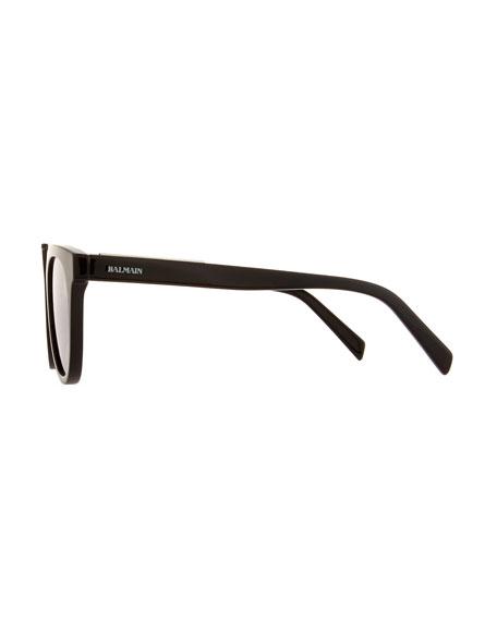 Round Mirrored Acetate Sunglasses w/ Contrast Bridge