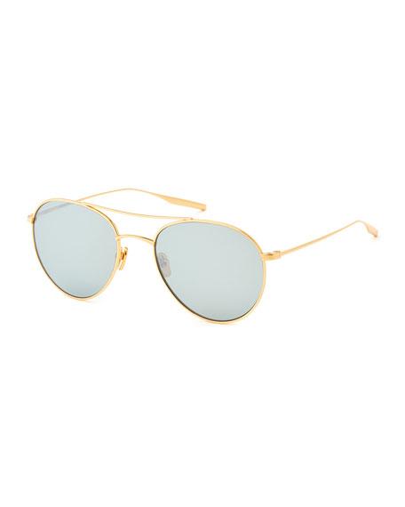 Titanium Round Polarized Sunglasses