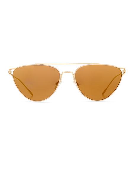 Floriana Cat-Eye Metal Sunglasses