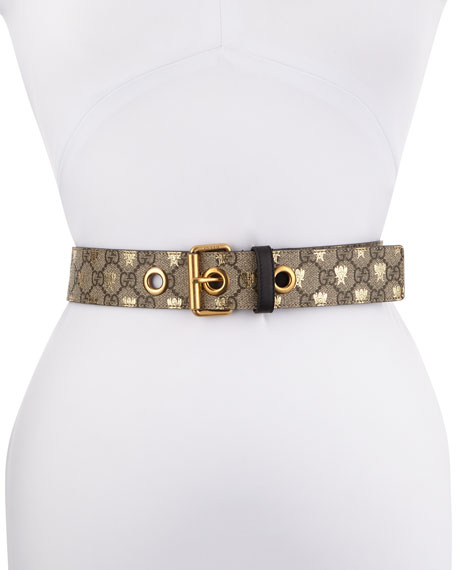 Formal Squared GG Supreme Canvas Bee Belt