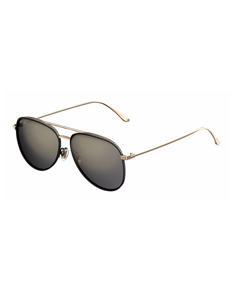 Reto Pavé Aviator Sunglasses
