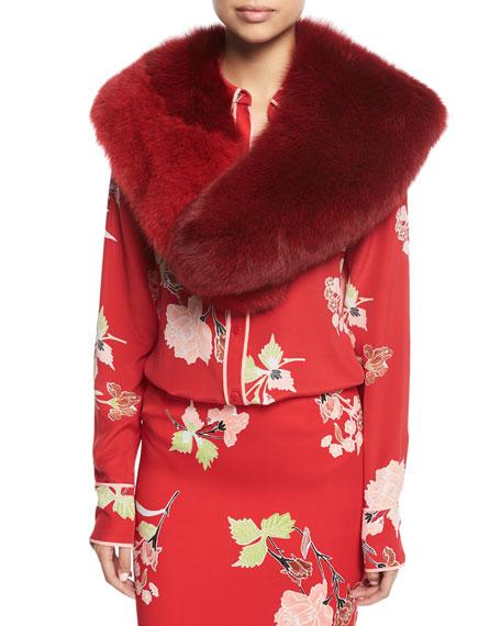 Bicolor Fox Fur Collar