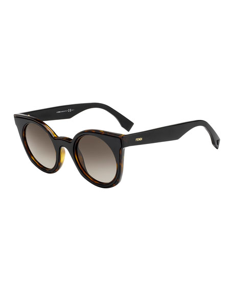 Fendi Round Two-Tone Gradient Sunglasses