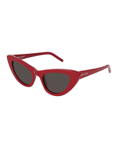 Lily Cat-Eye Acetate Sunglasses, Red