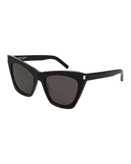Kate Cat-Eye Acetate Sunglasses, Black