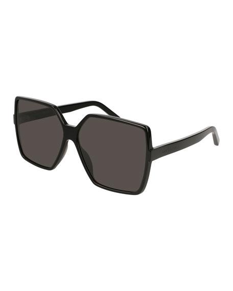Sl 232 Betty Oversized Square Gradient Sunglasses, Black