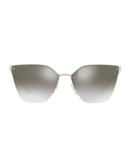 Mirrored Square Cat-Eye Sunglasses