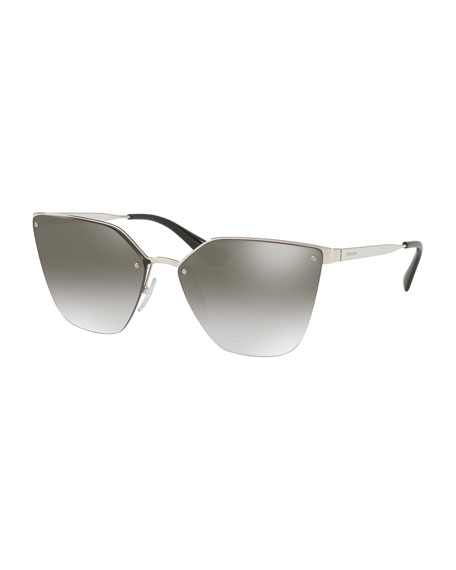 d8039340f804 Prada Mirrored Square Cat-Eye Sunglasses