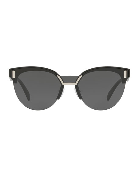 Semi-Rimless Butterfly Sunglasses