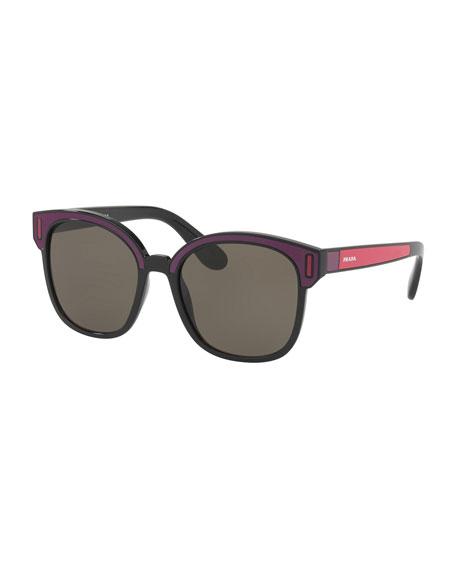 Square Colorblock Sunglasses