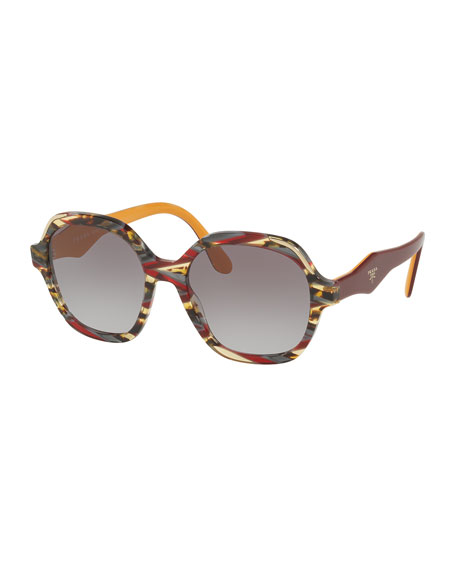 Square Patterned Acetate Sunglasses