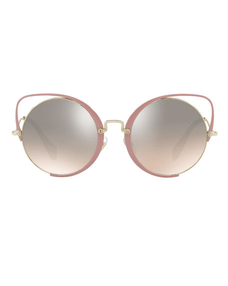 Cutout Cat-Eye Gradient Sunglasses