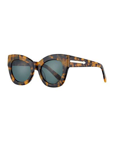 Northern Lights Cat-Eye Sunglasses, Brown